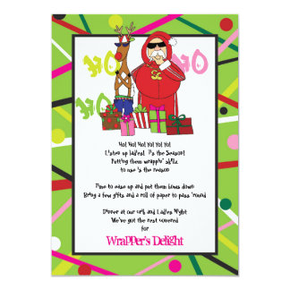 Wrapper's Delight Ghetto Fabulous Christmas Party Card