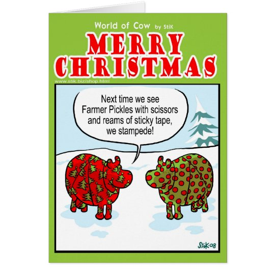 Wrapping Cows Card