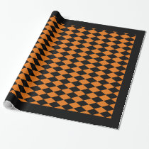 "Wrapping Paper, 30"" x 6' BLACK & ORANGE HARLEQUIN Wrapping Paper"