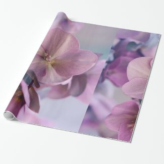 Wrapping Paper Beautiful Pink Flower Design Art