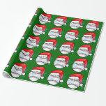 Wrapping Paper - Christmas Santa Baseball