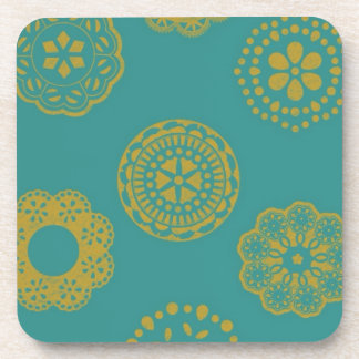 Wrapping paper drink coaster