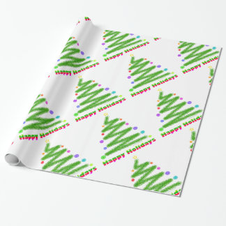 WRAPPING PAPER - HAPPY HOLIDAYS CHRISTMAS TREE