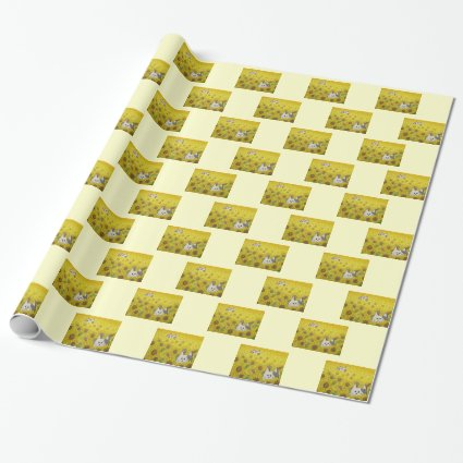 """Wrapping Paper """"Hide & Seek"""" Yellow"""