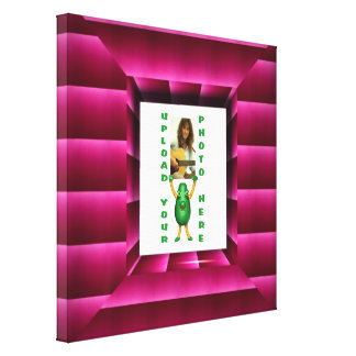 Wrapping paper illusion photo border Valxart illus Gallery Wrapped Canvas
