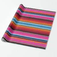 wrapping paper,Mexican serape print, pink Wrapping Paper