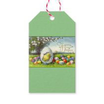 WRAPPING PAPER SUPPLIES VINTAGE  Easter egg Gift Tags
