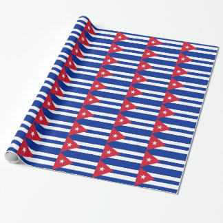 Wrapping paper with Flag of Cuba
