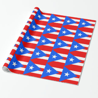 Wrapping paper with Flag of Puerto Rico