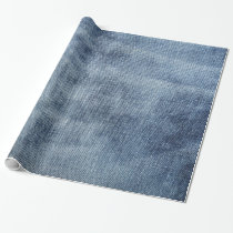 Wrapping paper with natural blue jeans, denim
