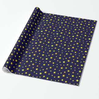 Wrapping Paper with Stars on Navy Blue