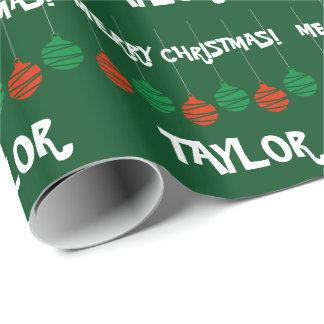 Wrappingpaper brillante con nombre personalizado papel de regalo