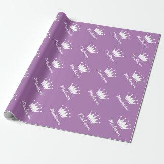 Wrappingpaper púrpura de la fiesta de bienvenida papel de regalo