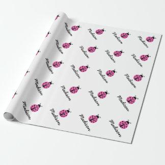 Wrappingpaper rosado de encargo de la fiesta de papel de regalo