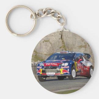 WRC Rally Car Basic Round Button Keychain