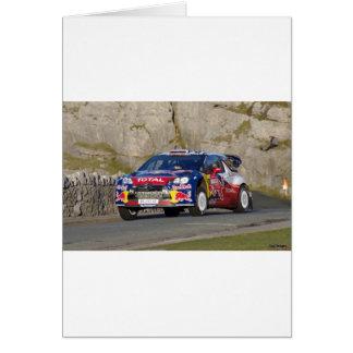 WRC Rally Car Card