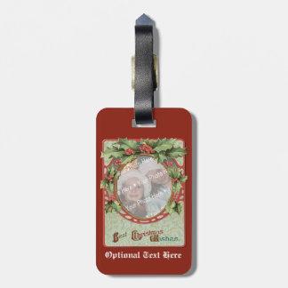 Wreath Add-A-Photo Christmas Frame Bag Tags
