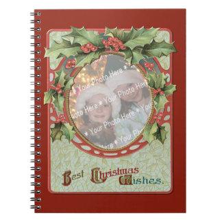 Wreath Add-A-Photo Christmas Frame Spiral Notebooks