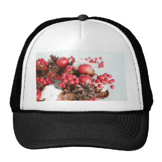 Wreath and Apple Mesh Hat