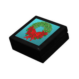 Wreath and Bows Gift Box Black
