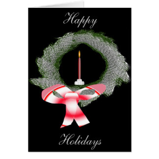 Wreath and Candle Card