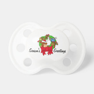 Wreath and Season's Greetings Pacifier