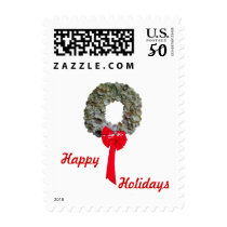 Wreath and Words Postage