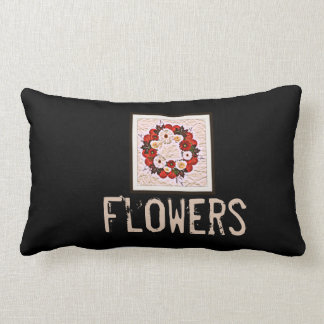 """Wreath """"Big Hearts"""" Flowers Posterized Pillow"""