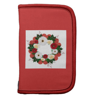 "Wreath ""Big Hearts"" Red Flowers Folio Planner"