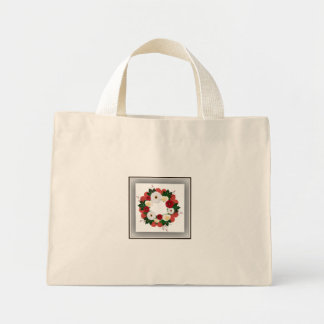 """Wreath """"Big Hearts"""" Red/White Flowers Tote Bag"""