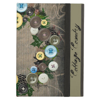 """Wreath """"Blooming Buttons"""" Pine Cones iPad Case"""
