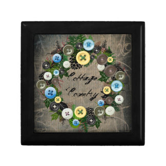 "Wreath ""Blooming Buttons"" Pine Cones Jewelry Box"