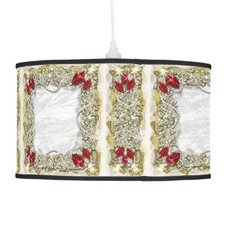 Wreath bow pearl snow ceiling lamp