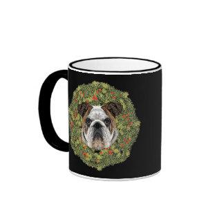 Wreath Bulldog v2 Coffee Mug