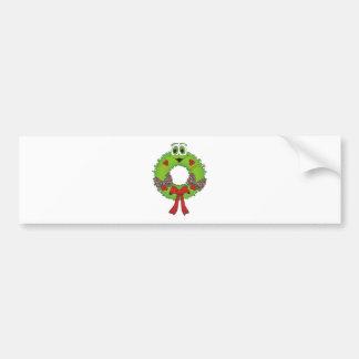 Wreath Cartoon Bumper Sticker