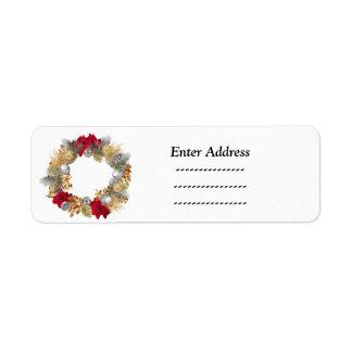 wreath Christmas  address label Sticker