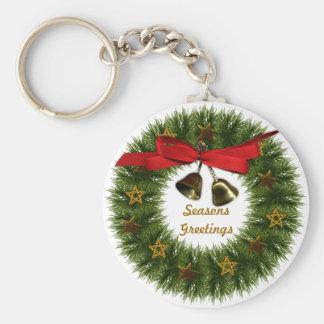 Wreath Christmas Basic Keychain