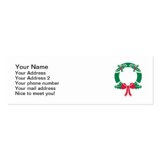 Wreath Christmas Business Card
