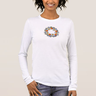 Wreath Daisy Flowers Floral Vector T-Shirt