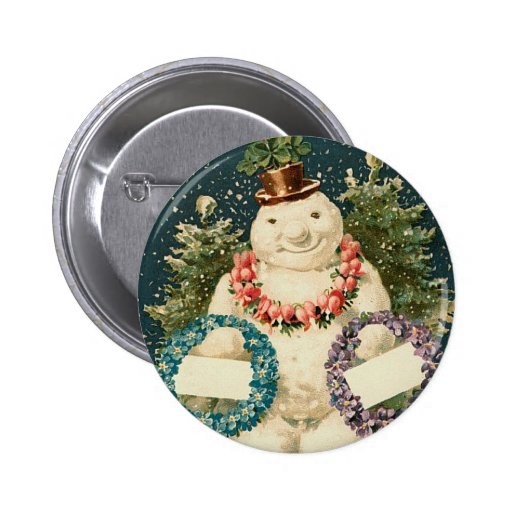 Wreath Decorated Snowman Pins