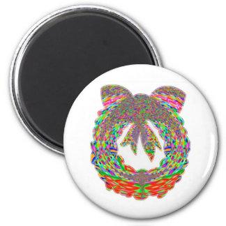 Wreath Diamond Jewel Pattern by Navin 2 Inch Round Magnet
