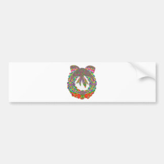 Wreath Diamond Jewel Pattern by Navin Bumper Sticker
