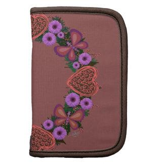 """Wreath """"Dusty Heart"""" Purple Flowers Folio Planner"""