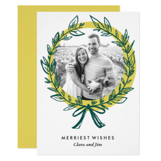 Wreath Frame Holiday Photo Card