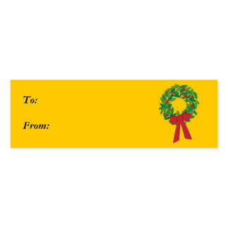 wreath gift tag business card