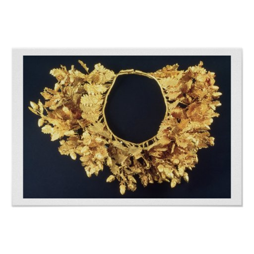 Wreath, Greek, late 4th century BC (gold) Poster