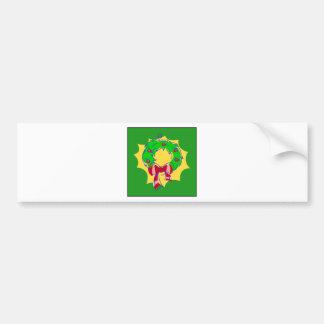 Wreath - green bkgd bumper sticker