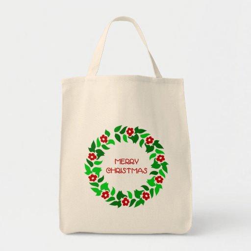 Wreath Greetings Tote Bag