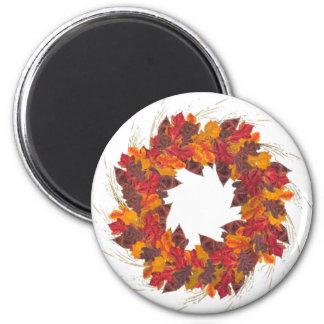 Wreath 2 Inch Round Magnet