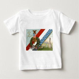 Wreath Medal Cemetery Us Flag Baby T-Shirt